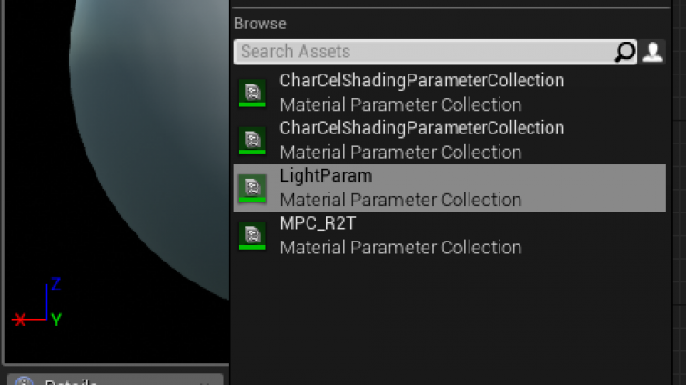 UE4中的Material Parameter Collection